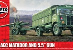 "Airfix military AEC Matador and 5.5"" Gun (1:76)"