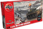 Airfix military LCM and Sherman (1:76)