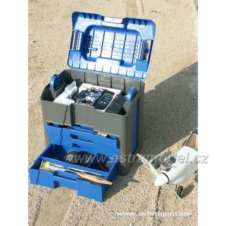 Kufr Lift Box multifunkční velký - modro/šedý