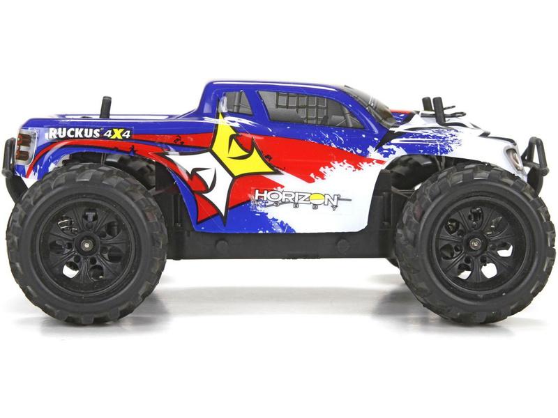 1:24 ECX Ruckus Monster Truck 4WD RTR - modrý
