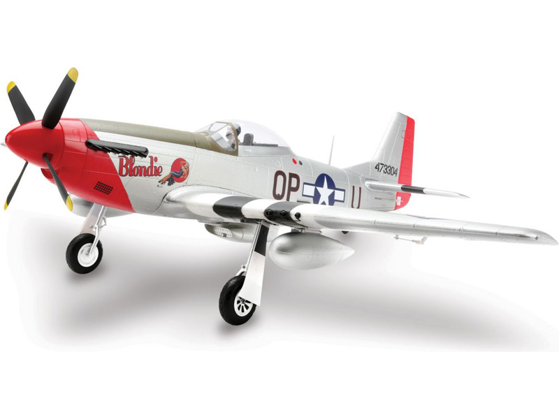 P-51D Mustang 1.2m AS3X BNF Basic