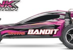RC auto Traxxas Bandit 1:10: Boční pohled - Pink edition