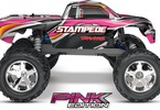 RC model auta Traxxas Stamede 1:10: Boční pohled - Pink edition