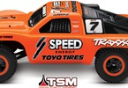 RC model auta Traxxas Slash VXL TSM: #7 Robby Gordon - pohled z boku