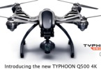 Yuneec Typhoon Q500 4K, 2x aku, kufr, Steady Grip