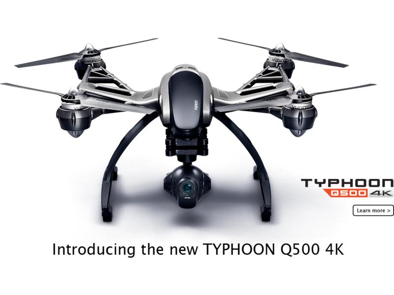 Yuneec Typhoon Q500 4K, 2x aku, kufr, Steady Grip