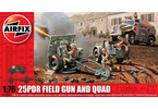 Classic Kit military 25pdr Field Gun and Quad 1:76