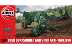 Classic Kit military Bren Gun Carrier and 6pdr Anti-Tank Gun 1:76
