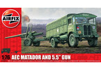 "Classic Kit military AEC Matador and 5.5"" Gun 1:76"