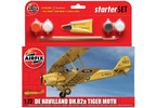 Starter Set letadlo de Havilland D.H.82a Tiger Moth 1:72