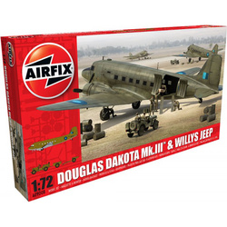 Classic Kit letadlo Douglas Dakota MkIII with Willys Jeep 1:72