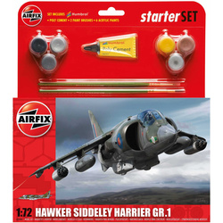 Starter Set letadlo Hawker Harrier GR1 1:72