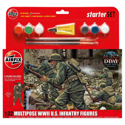 Airfix figurky WWII U.S. Infantry Multipose (1:32) (set)