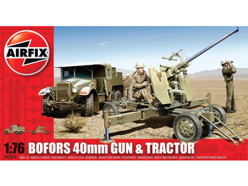 Airfix military Bofors 40mm Gun and Tractor (1:76) / AF-A02314