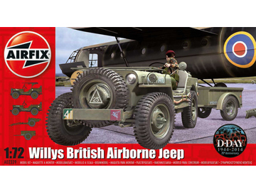 Airfix military Willys Jeep, Trailer & 6PDR Gun (1:72) / AF-A02339