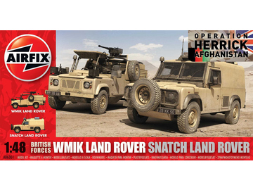 Airfix military British Forces Land Rover Twin Set (1:48) / AF-A06301