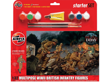 Airfix figurky WWII British Infantry Multipose (1:32) (set) / AF-A55211