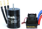 Střídavý motor Black Magic 540 4P 2950kv, reg. 50A