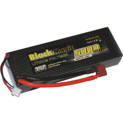 LiPol Car Black Magic 7.4V 5000mAh 35C Deans