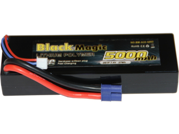 LiPol Car Black Magic 7.4V 5000mAh 35C EC3 / BMA35-5000-2E
