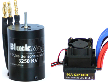 Střídavý motor Black Magic 540 4P 3250kv, reg. 50A / BMC4P-551