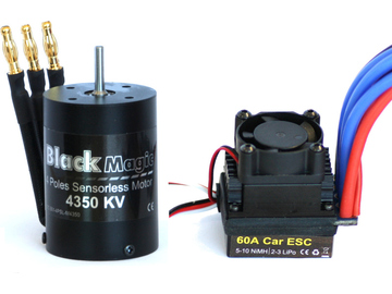 Střídavý motor Black Magic 540 4P 4350kv, reg. 60A / BMC4P-561
