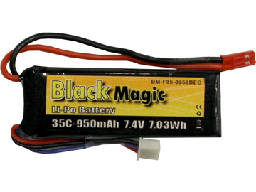 LiPol Black Magic 7.4V 950mAh 35C JST Blade CX2 / BMF35-0950-2JST
