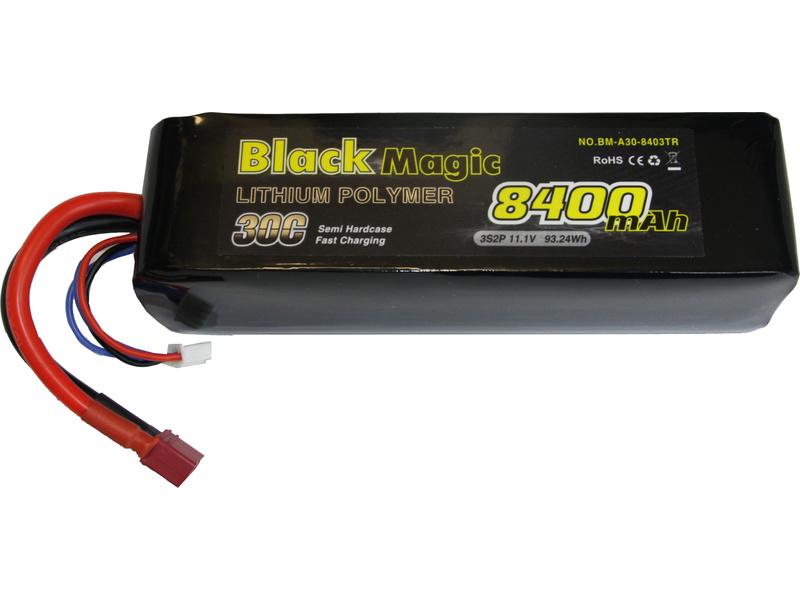 Black Magic LiPol Car 11.1V 8400mAh 30C Deans