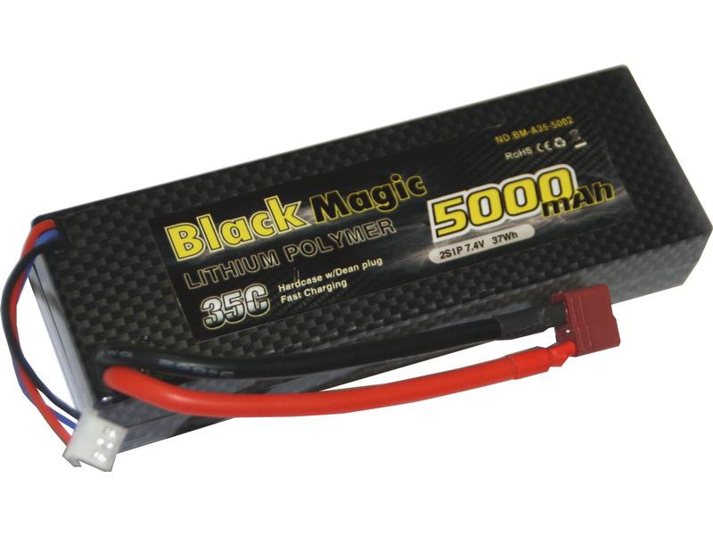 LiPol Car Black Magic 7.4V 5000mAh 35C Deans
