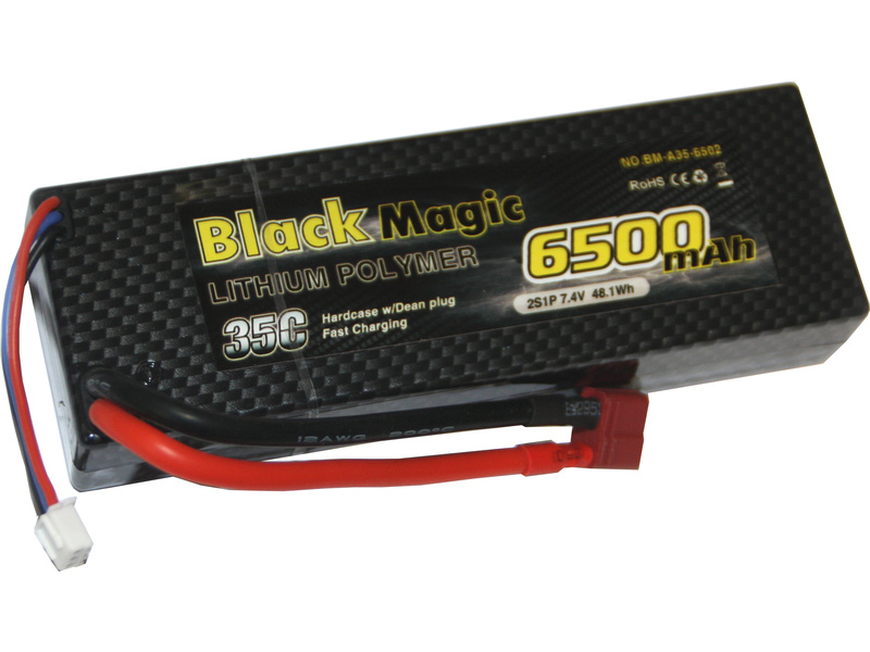 LiPol Car Black Magic 7.4V 6500mAh 35C Deans BMA35-6500-2D