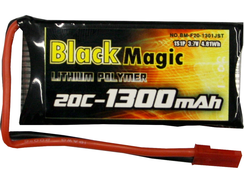 LiPol Black Magic 3.7V 1300mAh 20C JST BMF20-1300-1JST