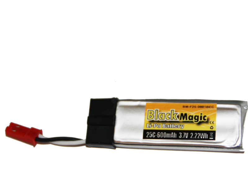 LiPol Black Magic 3.7V 600mAh 25C JST BMF25-0600-1JST