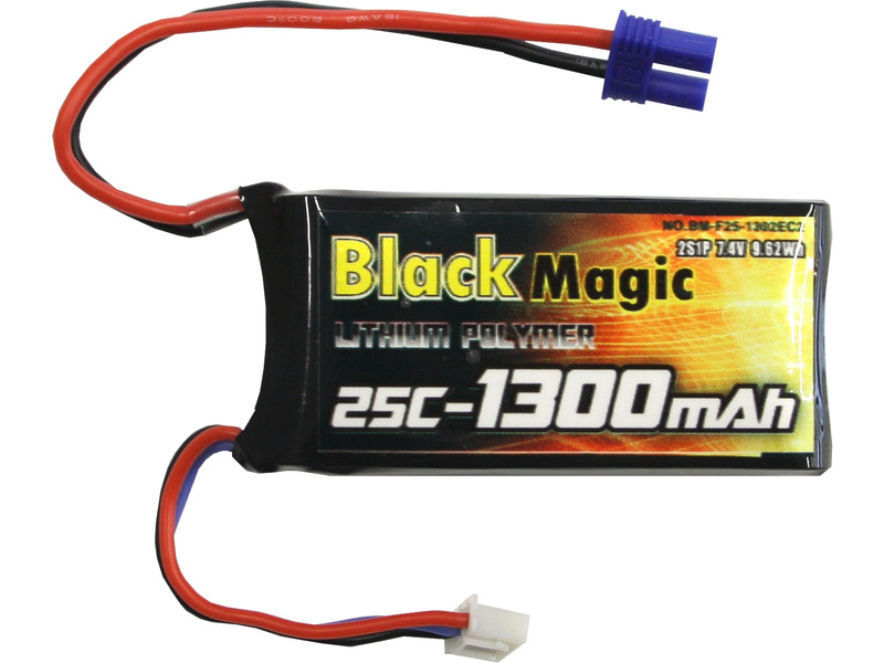 LiPol Black Magic 7.4V 1300mAh 25C EC2 BMF25-1300-2EC2