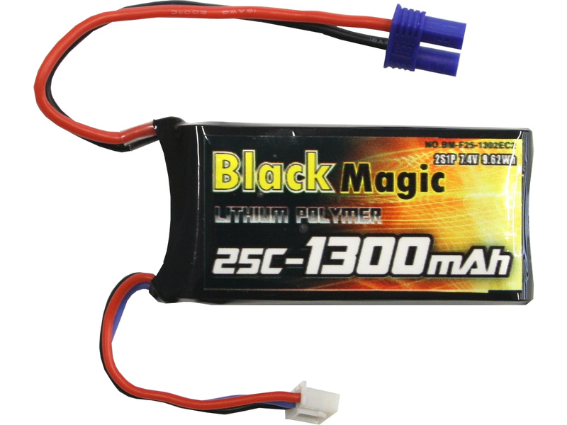 LiPol Black Magic 7.4V 1300m Ah 25C EC3 BMF25-1300-2EC3