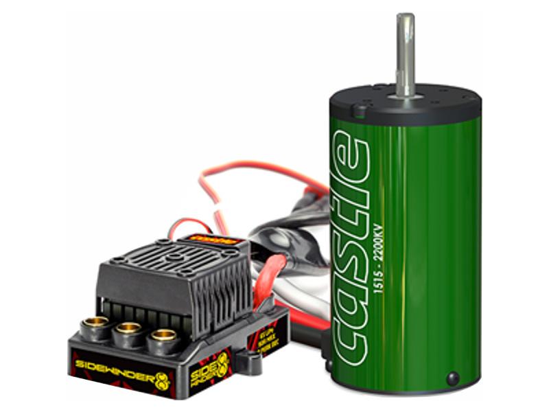 Castle motor 1515B 2200kv s reg. Sidewinder 8 CC-010-0139-00