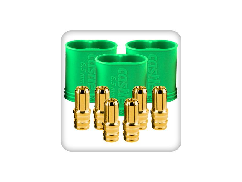 Castle konektor 6.5mm samec (3) CC-011-0068-00
