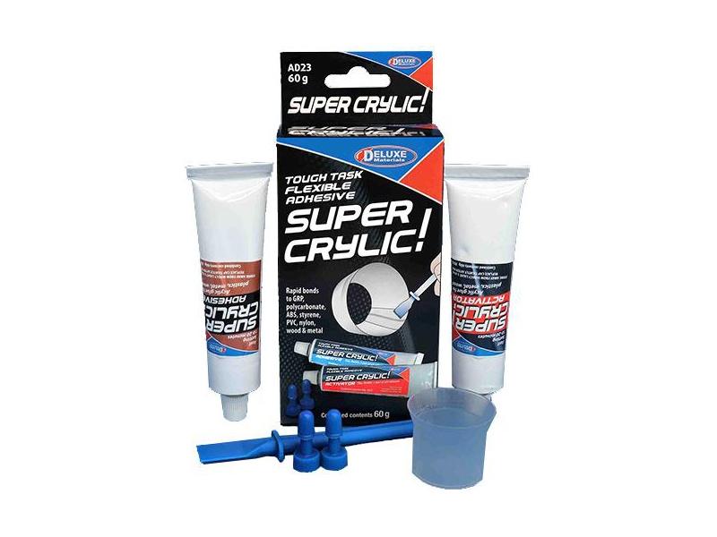 Super Crylic dvousložkové lepidlo na plasty 60ml