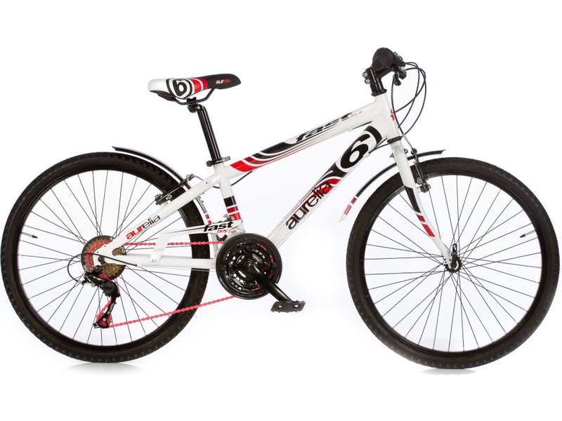 "DINO Bikes - Dětské kolo 24"" Aurelia Fast Boy bílé"