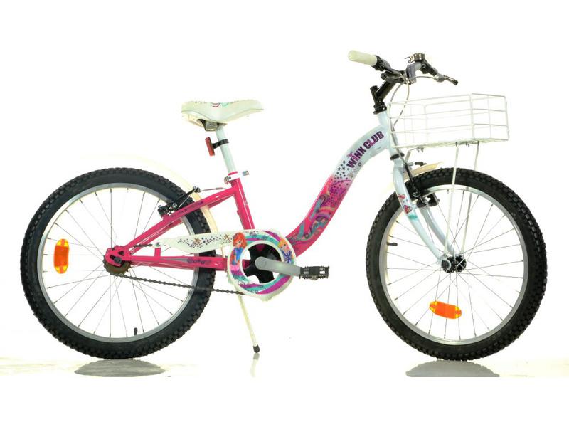 """DINO Bikes - Dětské kolo 20"""" Winx s košíkem"""