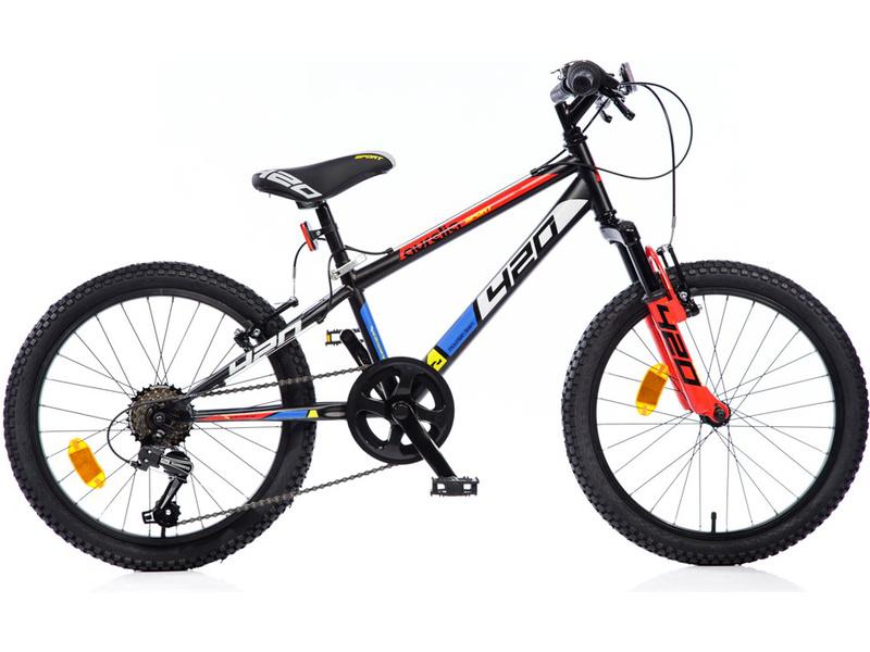"DINO Bikes - Dětské kolo 20"" Aurelia 420 Sport odpružené černé"