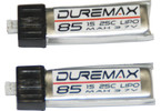 DUREMAX Power LiPol 3.7V 85mAh 25C (2)