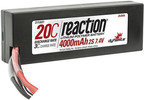 LiPol Reaction Car 7.4V 4000mAh 20C HC Deans