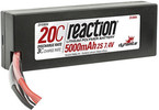 LiPol Reaction Car 7.4V 5000mAh 20C HC Deans