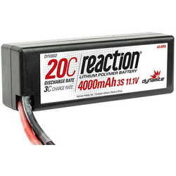 LiPol Reaction Car 11.1V 4000mAh 20C HC Deans