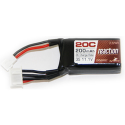 LiPol Reaction Car 11.1V 200mAh 20C Micro Rally, SCT
