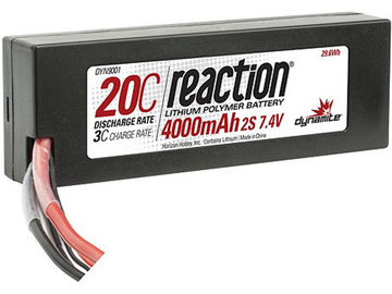 LiPol Reaction Car 7.4V 4000mAh 20C HC Deans / DYN9001D