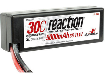 LiPol Reaction Car 11.1V 5000mAh 30C HC Deans / DYN9007D