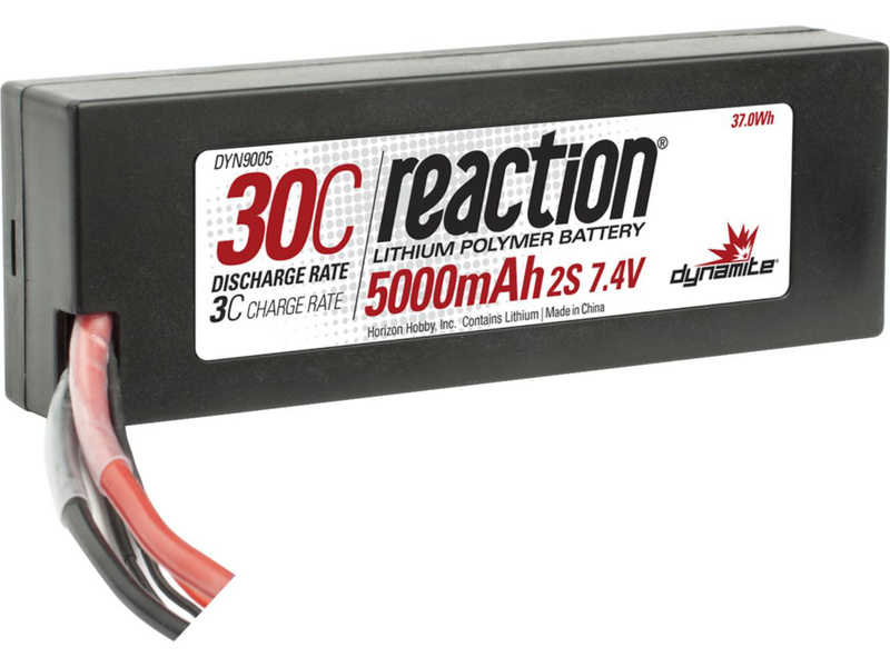 Náhled produktu - LiPol Reaction Car 7.4V 5000mAh 30C HC EC3