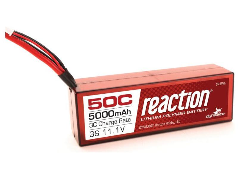 LiPol Reaction Car 11.1V 5000mAh 50C HC Deans