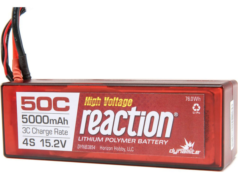 LiPol Reaction Car 15.2V HV 5000mAh 50C EC5